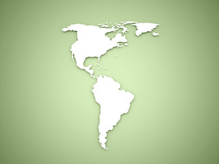 America continent on green