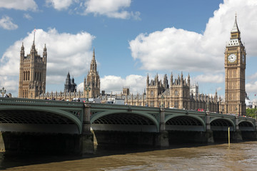 Famous and Beautiful view to Big Ben and the House of Parliament