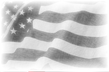 American flag pencil drawing