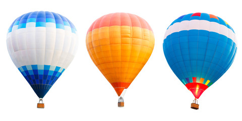 Papiers peints Montgolfière / Dirigeable Colorful hot air balloons