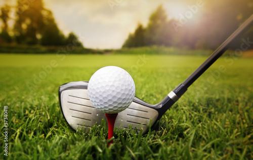 Мяч от гольфа на земле бесплатно