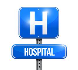 hospital road sign illustration design