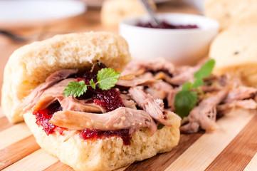 Sweet pork sandwich