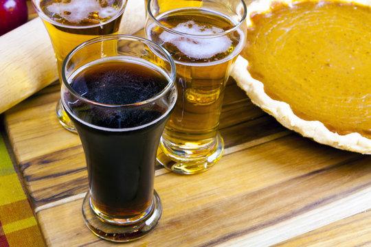 Beer Flight With Pumpkin Pie