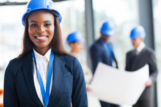 african female construction worker
