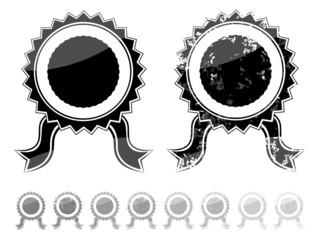Blank black seal grunge