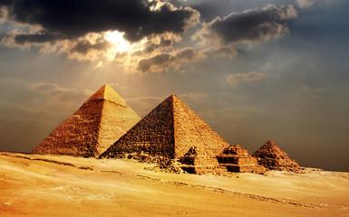 giza pyramids, cairo, egypt Papier Peint