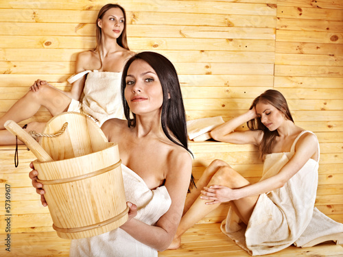 steamiest sauna scene: three girls get racy with each other  173813