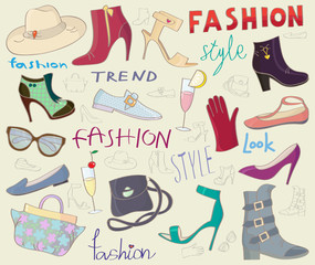 Fashion shoes background
