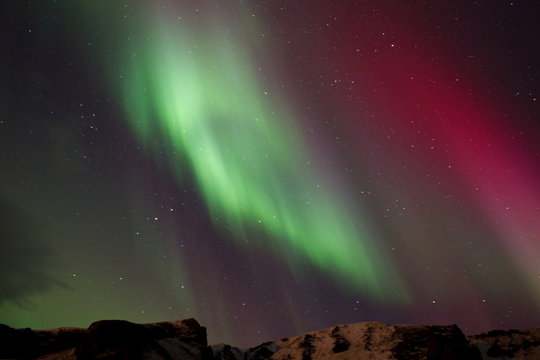 .Northern lights in Iceland..................