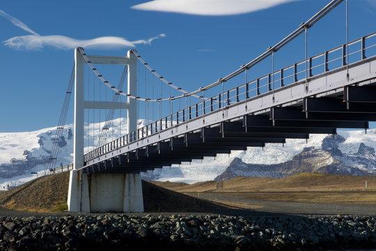 Glacial River Bridge spans That Jokulsarlon, Iceland