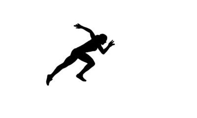 Woman sprinter silhouette