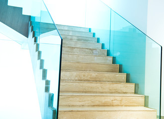 Foto op Plexiglas Trappen marble stairs