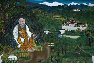 Religious thanka, Thimpu, Bhutan