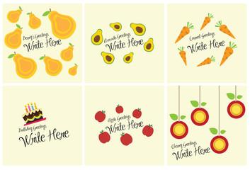 Various food greeting card