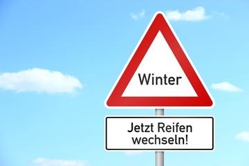verkehrszeichen vorfahrt achten winter I