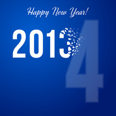 Congratulatory background with scatter year