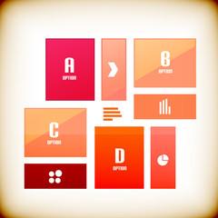 Modern square business banner design template