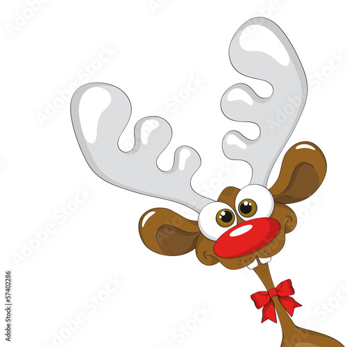 quot rentier comic   reindeer comic quot  stockfotos und clip art of deer faces clip art of deer eating crops