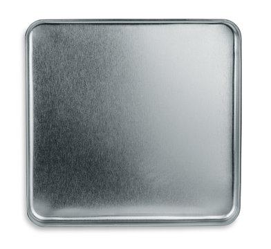 Top view of empty metal box