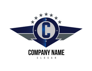 Letter C shield logo