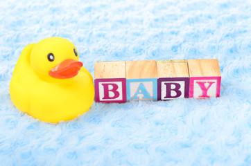 Baby blocks spelling baby