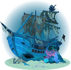 Old ship background