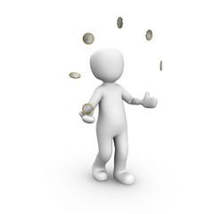 Currency juggler Euro