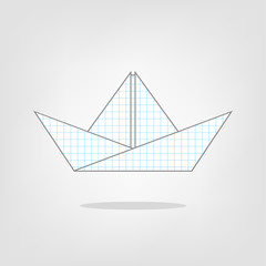 Illustration of a paper boat on the background