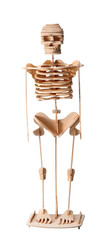 wooden human skeleton