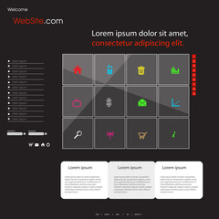 Business website template with icons, easy all editable