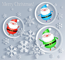 Merry Christmas! Card with Fathers Frost