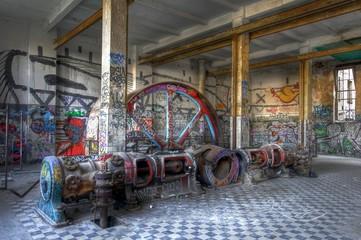 Wall Mural - Dampfmaschine in einer Halle