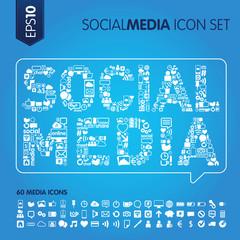 Social media concept icons