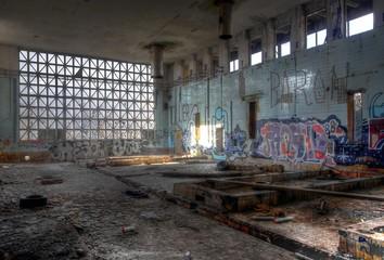 Wall Mural - Insolventes Unternehmen, Fabrik