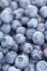 Blueberries macro