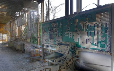 Wall Mural - Abandoned office