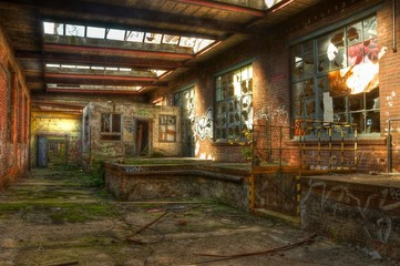 Wall Mural - Abandoned factory