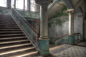 Canvas Prints Old Hospital Beelitz Old abandoned entrance hall in beelitz