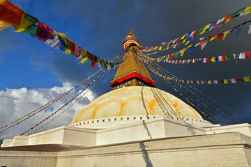 Boudhanath Buddhist stupa. Kathmandu, Nepal
