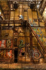 Wall Mural - Old furnaces inside abandoned hall