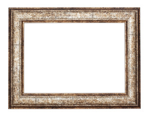 vintage classical metal frame is isolated on white background