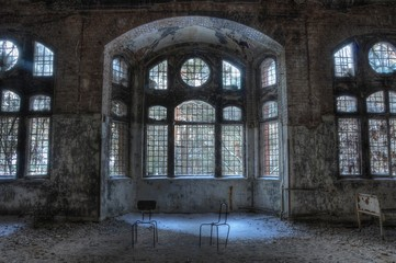 Canvas Prints Old Hospital Beelitz Old abandoned sanatorium in beelitz