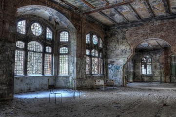 Canvas Prints Old Hospital Beelitz Old abandoned hospital