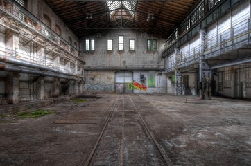 Wall Mural - Old abandoned hall
