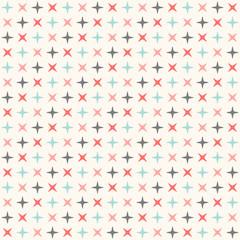 Seamless modern geometric polka rhombus pattern