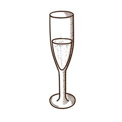 Champagne glass sketch