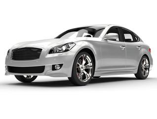 Silver Large Luxury Car