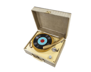 Vdintage Little Record Player In A Box