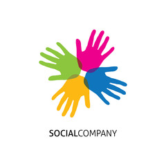 Social symbol.Vector.